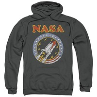 NASA Retro Space Shuttle Distressed Adult Hoodie