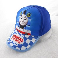 Fashion Summer Cartoon Animation super Thomas and Friends Little Train Baseball Sport Cap Hat for Child Kids Boys Fit For52-54cm