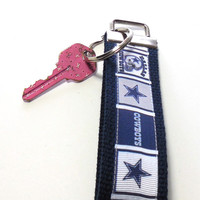 Dallas Cowboys Wristlet Key Chain Key Fob Key Ring Key Holder