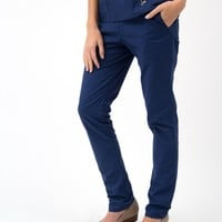 The Skinny Pant in Estate Navy Blue - Medical Scrubs by Jaanuu