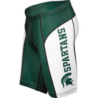 Michigan State Spartans NCAA Flat Seam Cycling Shorts (XX-Large)