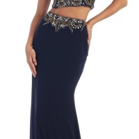 Prom Two Piece Set Dress Formal Evening Long Gown