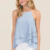 Jenny High Neck Tiered Layer Tank