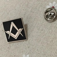 Square and Compass Lapel Pin