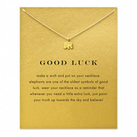 Lucky Elephant Gold/Silver Plated Pendant