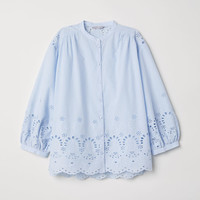 H&M Blouse with Eyelet Embroidery $39.99
