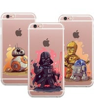 Star Wars The Force Awakens Bb-8 Phone Case For Iphone 7 7Plu 8 8Plus X Soft Silicone TPU Cover For iPhone 6 6S 6plus 5 5S SE