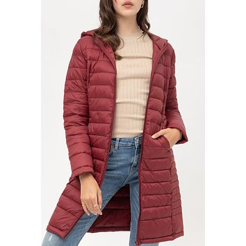 Fully Lined Padded Puffer Packable Jacket