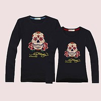 ED HARDY Momen Men  Casual Long Sleeve Top Sweater Pullover