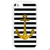 Anchor Gold Bling Suoreme Custom For iPhone 5 / 5S / 5C Case