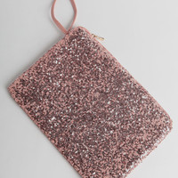 Shine On Sequin Tablet Case and Clutch In Pink