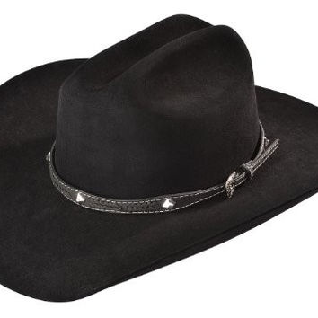M & F Western Men's Leather Laced Diamond Concho Hat Band Black One Size