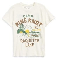 Boy's Peek 'Camp Pine Knot' Graphic Slub Cotton T-Shirt