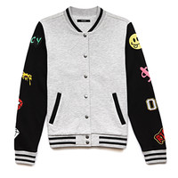 Forever Cool Patch Varsity Jacket