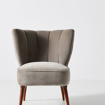 Fluted Accent Chair