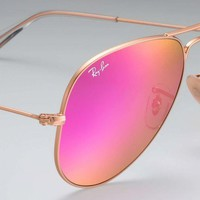 Ray Ban Aviator RB3025 112/4T Matte Gold frame/Fuschia Pink mirror