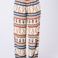Tied To A Shallow Heart Pants - Peasant Spice