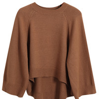 Long Sleeve Short Front Sweater
