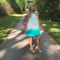 All Over The Road Dress: Mint/Jade