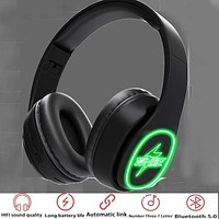 New Macaron series wireless luminous bluetooth headset can be inserted card music headset lightning print