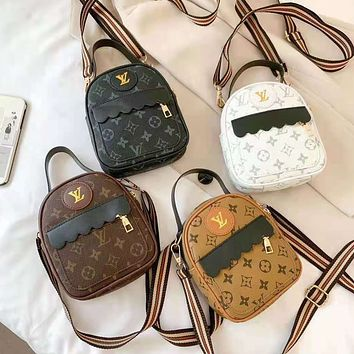 LV Classic print backpacks, mini bags and handbags for ladies