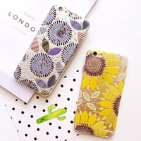 New Luxury Vintage Floral Daisy Flowers Capa Slim Matte TPU Phone Cases Cover For iPhone 5 5G 5S 6 6G 6S 4.7 6Plus 5.5 Inch