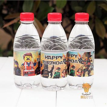 24pcs LEGO Avengers Batman Iron Man water bottle label candy bar decoration kids birthday party supplies baby shower AW-0620
