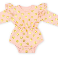 Polka Dot Long Sleeve- Baby Romper