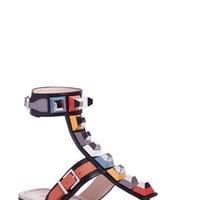 Fendi 'Rainbow' Studded Colorblock Gladiator Sandal (Women) | Nordstrom
