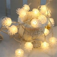 12 Foot 20 LED Pinecone Holiday Decoration String Lights