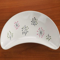 FRANCISCAN Echo Crescent Salad Plate Mid Century Atomic Stoneware Dishes