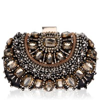 Vintage Styler Ember Embellished Clutch Bag