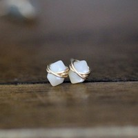 Pike Studs - Mother of Pearl