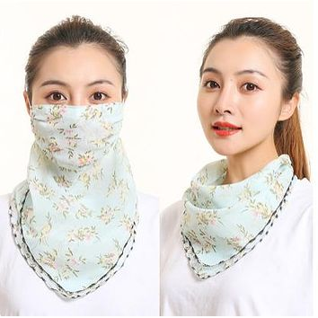 1 Fits All - L Green Yellow - Face Mask Scarf