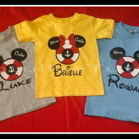 Disney Inspired Cruise Ship Tshirt Perfect For that Special trip on the Sea with Your Favorite Disney Characters