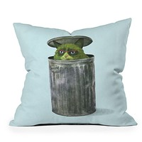 Terry Fan Grouchy Cat Throw Pillow