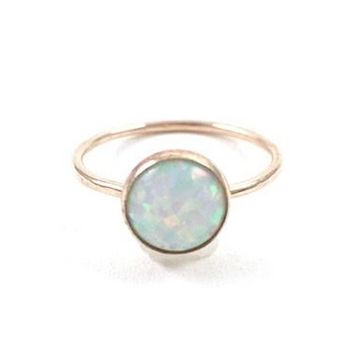 Large Opal Silver Ring