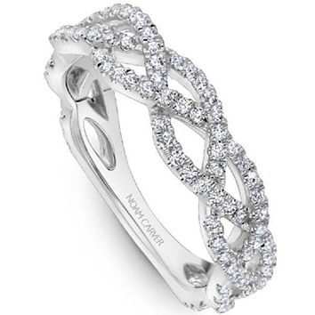 Noam Carver Interwoven Twist Diamond Stackable Band