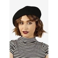 Le Parfait Wool Black Beret