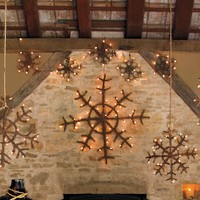 Lit Twig Snowflakes | Pottery Barn