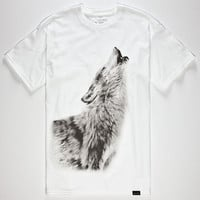 Rook Howling Mens T-Shirt White  In Sizes