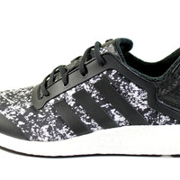 Adidas Women's Pure-Boost Q4 Black/White Print Running Shoes M21408