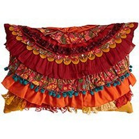 Pier 1 Imports - Product Detail - Layered Ruffles Pillow