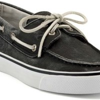 Sperry Top-Sider Bahama Canvas 2-Eye Boat Shoe Black, Size 5.5M  Women's Shoes