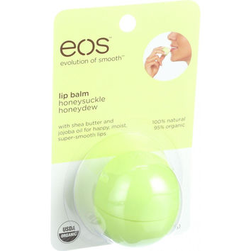 Eos Products Lip Balm - Smooth Sphere - Organic - Honeysuckle Honeydew - .25 Oz - Case Of 6