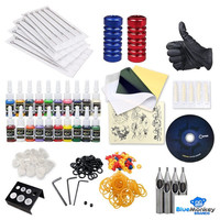 Complete Tattoo Kit 2 machine Gun 20 Color Inks Power Supply BMB234