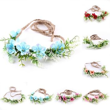 Baby Girls Toddler Kids Flower Crown Headband Hairband Photography Prop