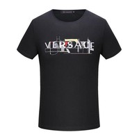 CREY3HD Versace  Women or Men Fashion Casual Letter Embroidery Shirt Top Tee