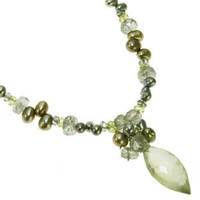Prehnite, Aquamarine, Peridot, and Labradorite Necklace One of A Kind by Kristin Ford Jewelry with Meaning | Whisperingtree.net