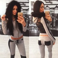 Women'S Casual Long-Sleeved Two-Piece Pants
